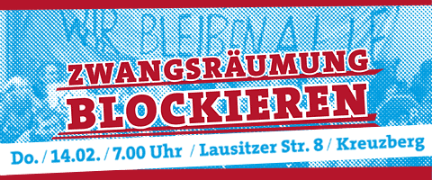 Zwangsräumung Blockade Plakat